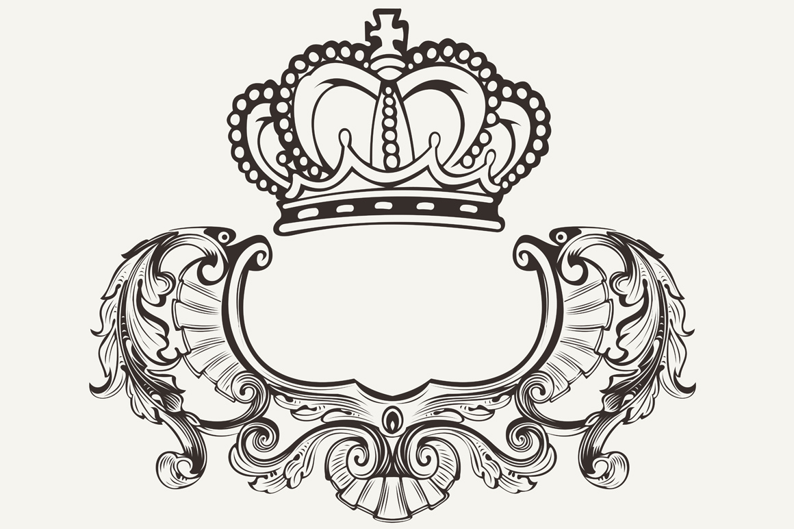 Crown Crest Composition ~ Graphics on Creative Market