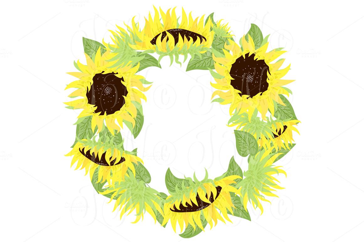 Sunflowers Mason Jars Digital Paper Illustrations On