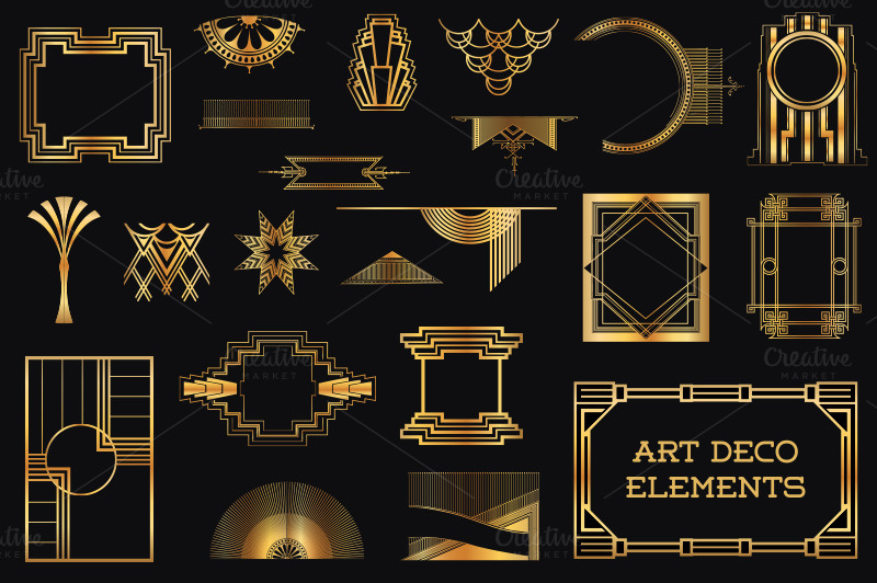 37 art deco design elements vol 1