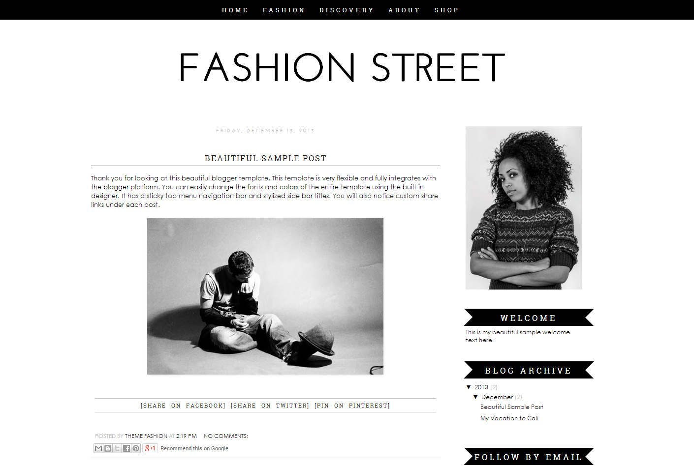 Blogger Template   Fashion Street   Themes on Creative Market vGoitI8t