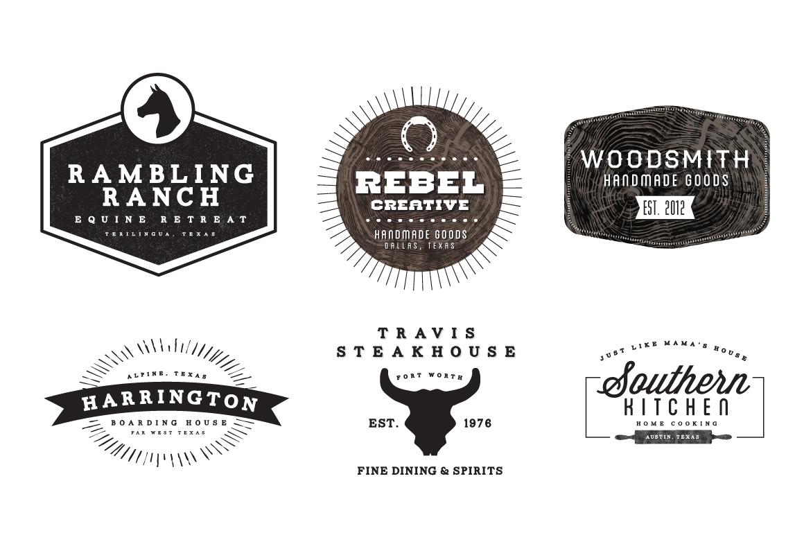 Western Logos Logo Templates On Creative Market