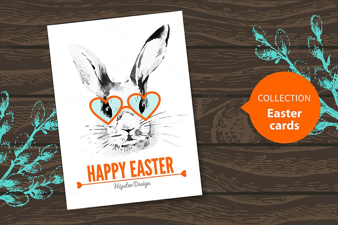 easter card hipster design