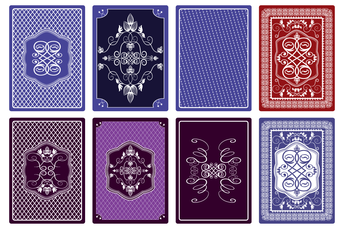 Playing Card Back Designs Illustrations On Creative Market