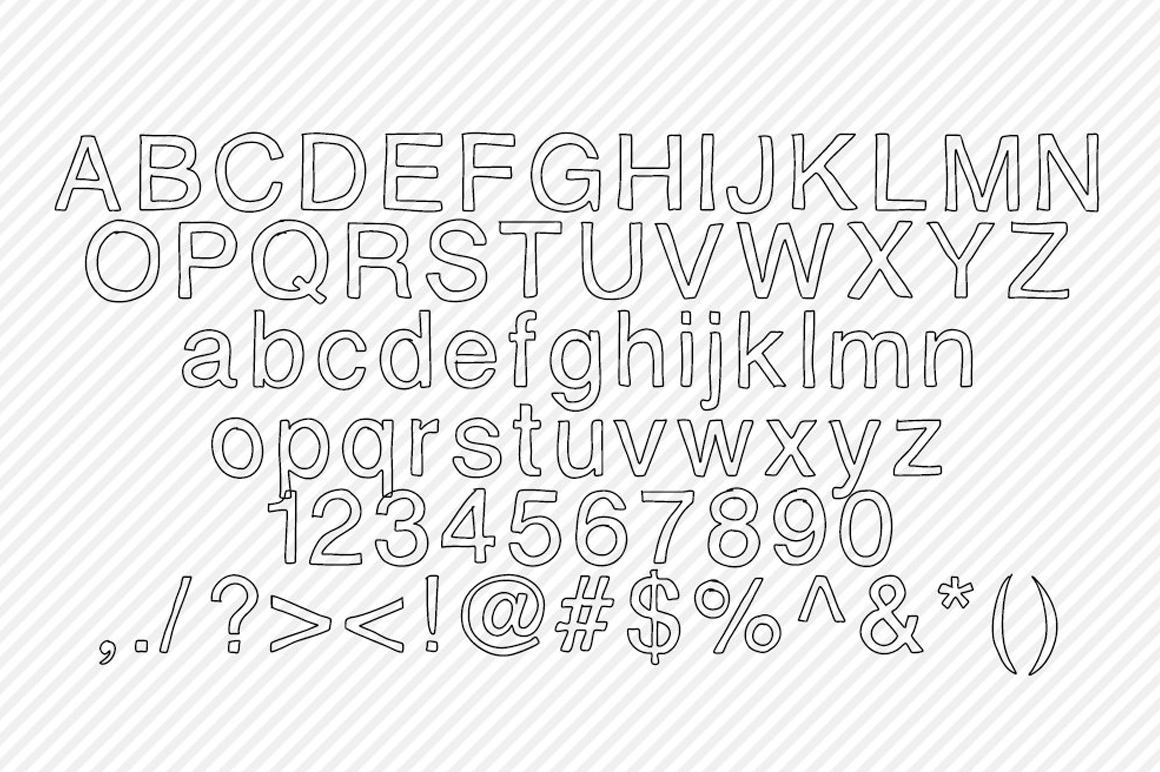 Hollow Hand Drawn Font ~ Display Fonts on Creative Market