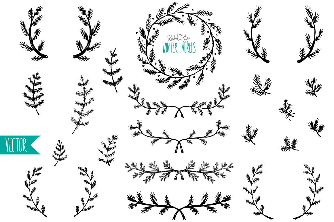 Winter Laurels Vector Amp Png Illustrations On Creative