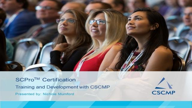 Training Development With Cscmp Scpro Certification Cscmptv