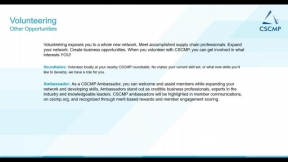 CSCMP New Member Webinar - Maximizing Your CSCMP Membership