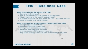 TMS Innovation - Implementing TMS, Benefits and Lessons Learned