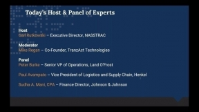 Breaking Down the Silos – CFO's and Transportation - A NASSTRAC, CSCMP and TranzAct Webinar Series