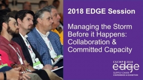 EDGE 2018 Session: Managing the Storm Before it Happens: Collaboration & Committed Capacity