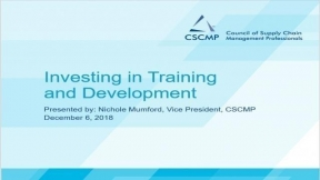 Professional Development for Your Supply Chain Team