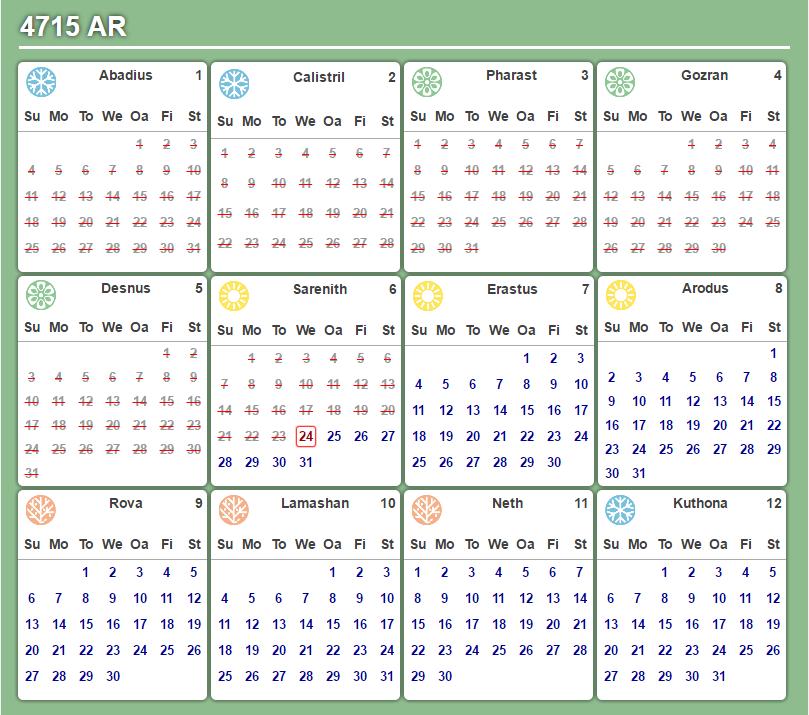 Faerun Calendar.Community Forums Request Calendar Script Roll20 Online