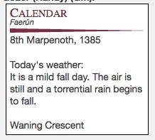 Faerun Calendar.Community Forums Script Faerun Calender And Down Day Counter