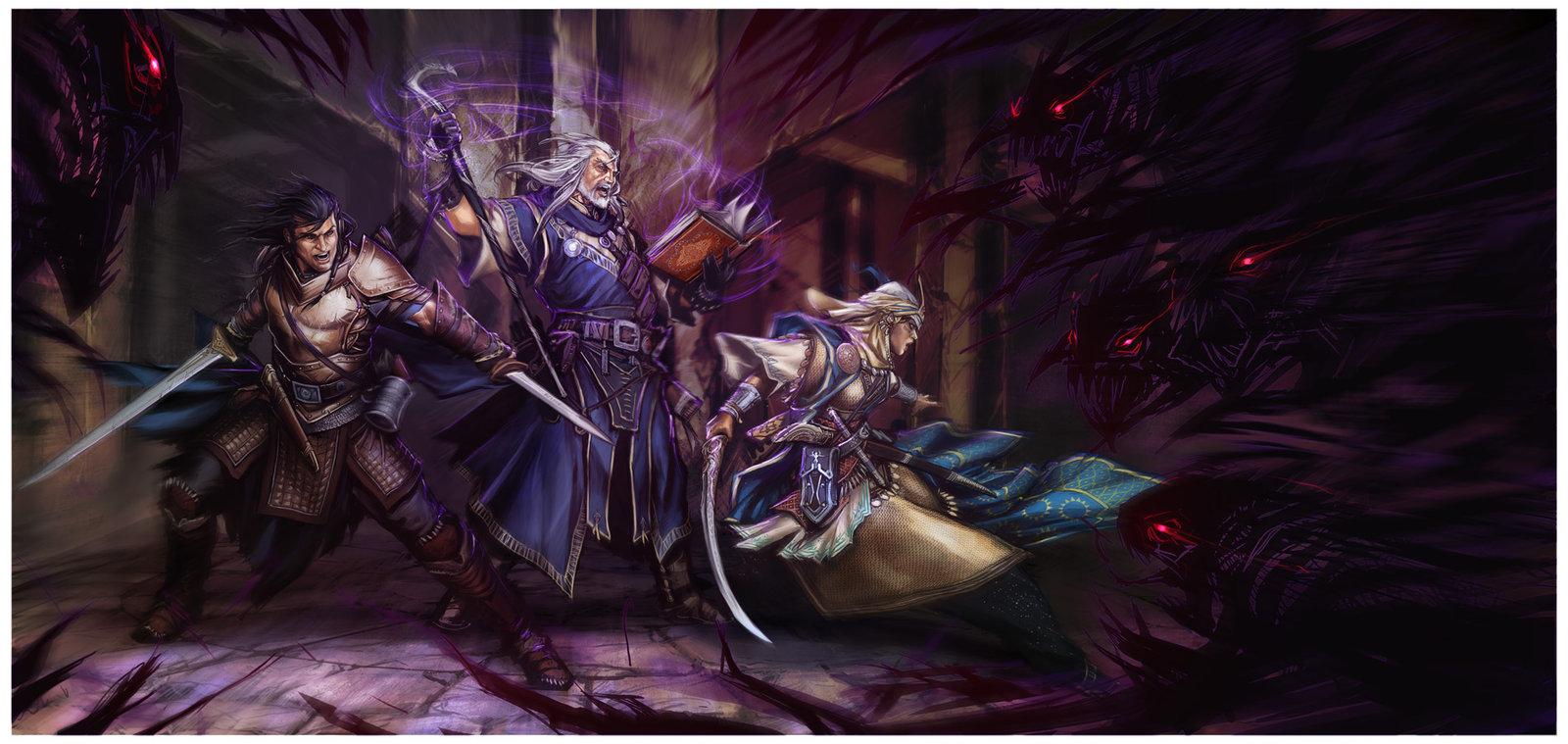 Image du jeu Pathfinder 2 : Discussion autour du monde de Golarion + Création de personnages