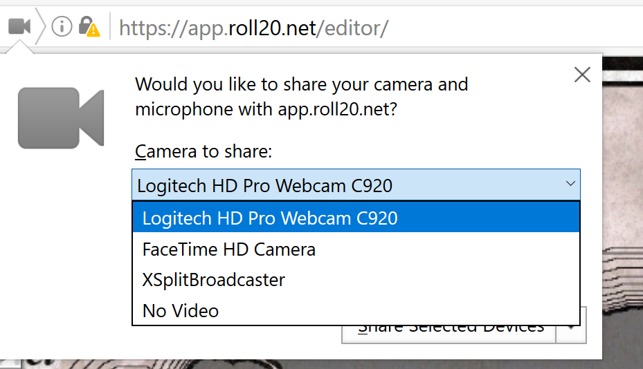 Community Forums: Problem with Camera controls in chrome | Roll20