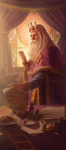 Alaphondar d'Emmerask Erudit de la cour, Conseiller et Precepteur Royal Med