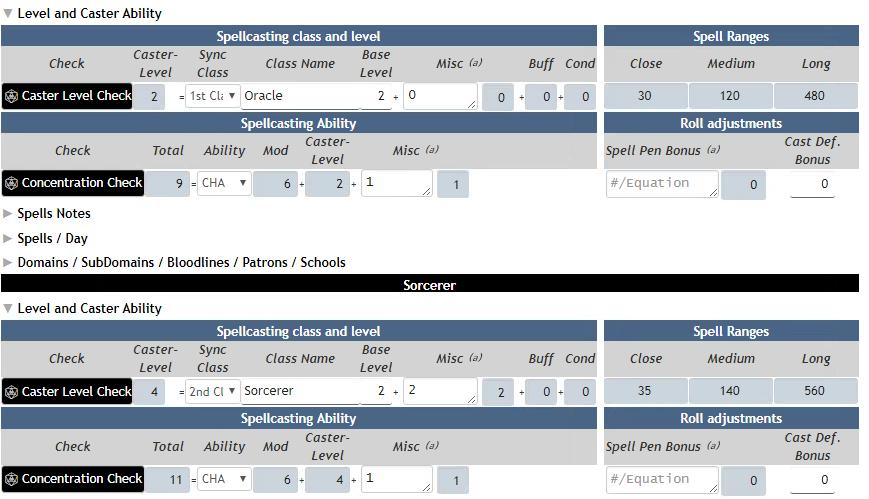 Community Forums: Pathfinder Spells - Multiple Spellcasting