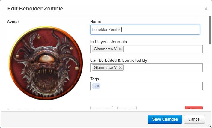 Community Forums: Edit a copy of a monster without modifying