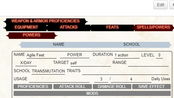 pathfinder playtest quick reference
