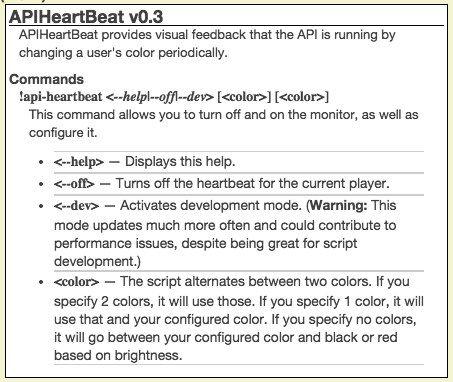 Community Forums: [Script] APIHeartBeat -- A visual cue that
