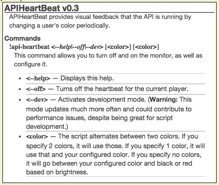 Community Forums: [Script] APIHeartBeat -- A visual cue that