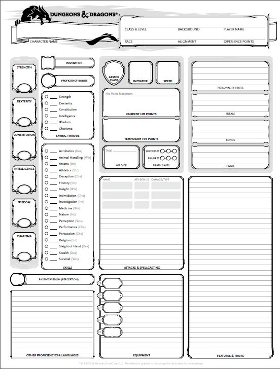 photo relating to 5e Printable Character Sheet called Neighborhood Boards: My 5E DND Temperament Sheet doesnt search