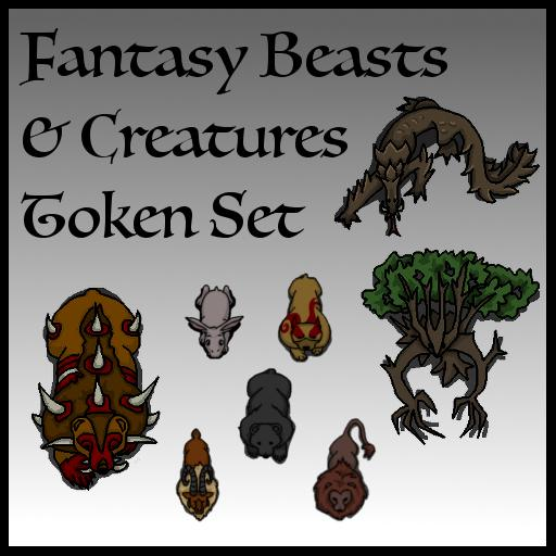 Fantasy Beasts & Creatures Token Set