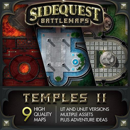 Sidequest Battlemaps: Temples 2