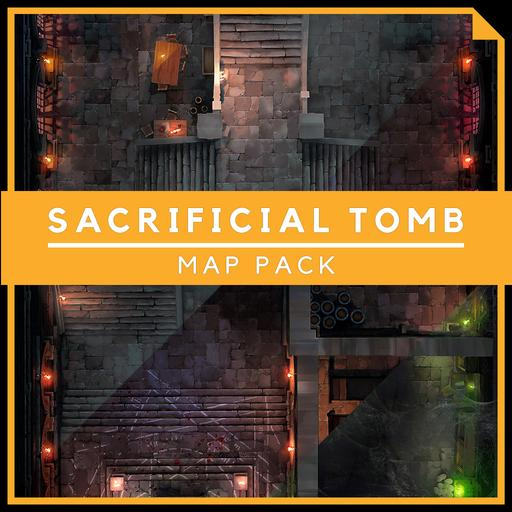 Sacrificial Tomb [Prison] - Battlemap