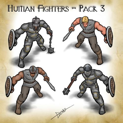 Human Fighters Pack 3