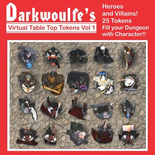 Darkwoulfe's Token Pack Vol1 - Heroes and Villains