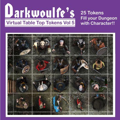 Darkwoulfe's Token Pack Vol5 - Heroes and Villains