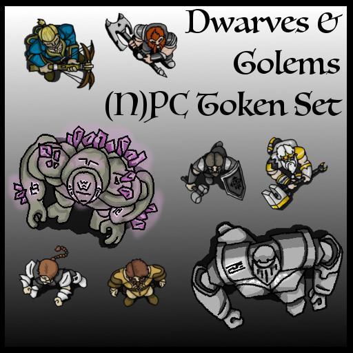 Dwarves & Golems (N)PC Token Set