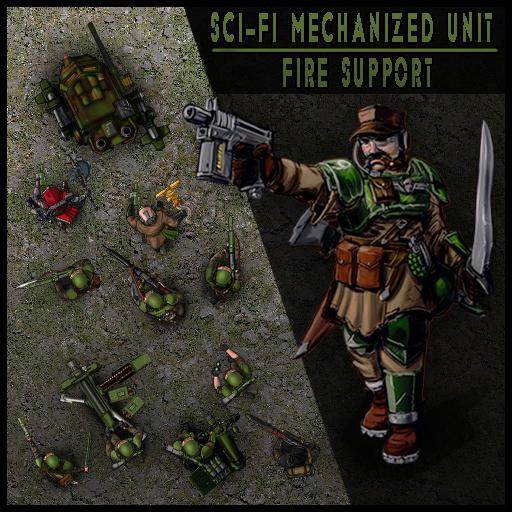 Sci-Fi Mechanized Unit: Fire Support