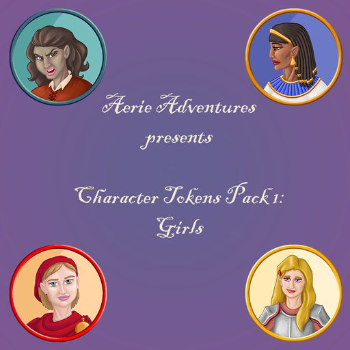 Character Tokens Pack 1: Girls