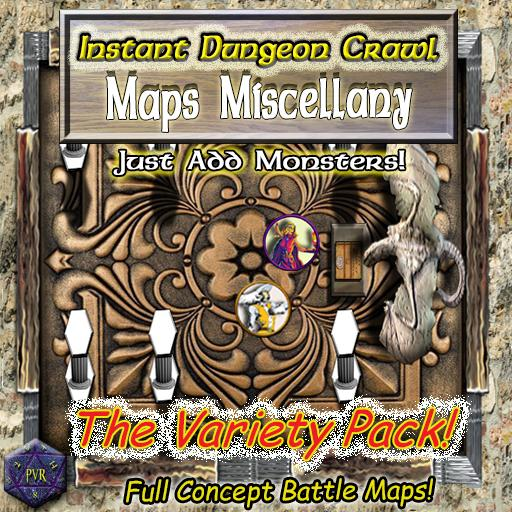 Instant Dungeon Crawl: Maps Miscellany
