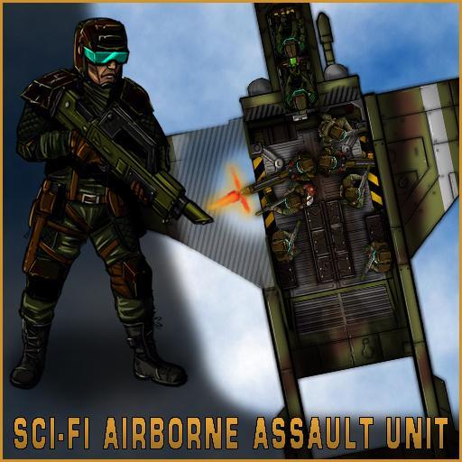 Sci-Fi Airborne Assault Unit