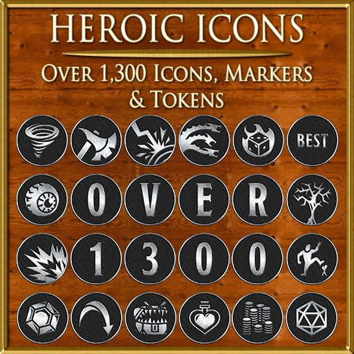 Heroic Icons - Black/Silver