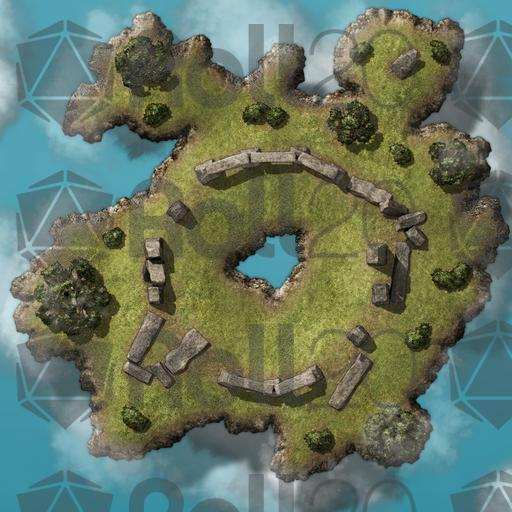 Tabletop Floating Island Map