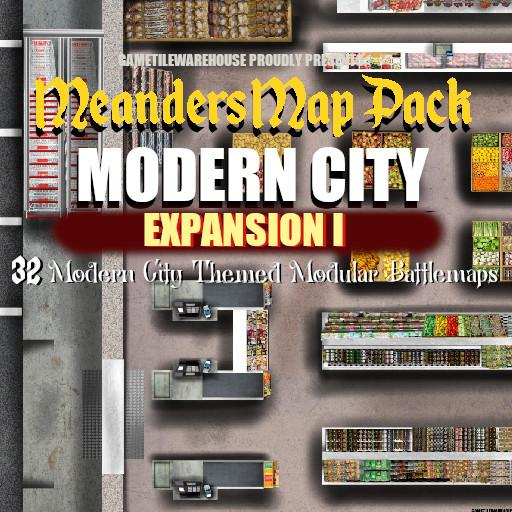 Meanders Map Pack MODERN CITY Expansion I