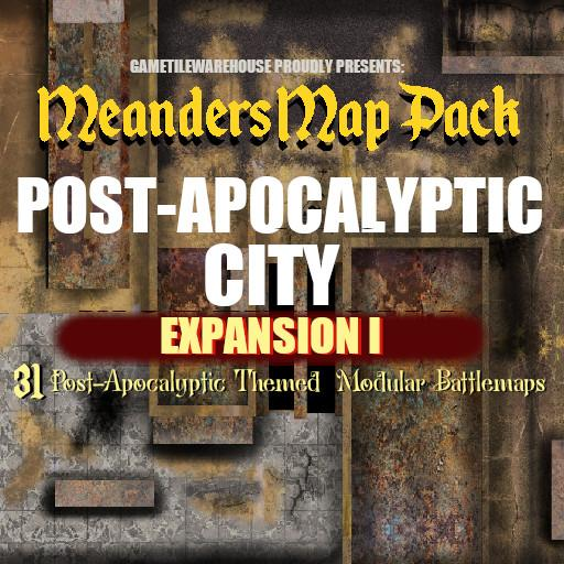 Meanders Map Pack POST APOCALYPTIC CITY Expansion I