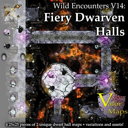 Wild Encounters V14: Fiery Dwarven Halls