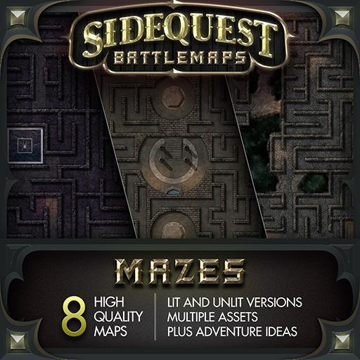 Sidequest Battlemaps: Mazes