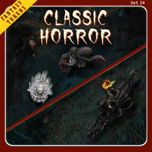 Fantasy Tokens Set 24, Classic Horror