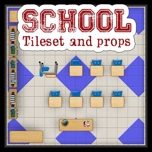 School Tileset and Props