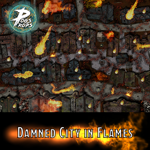 Damned City in flames