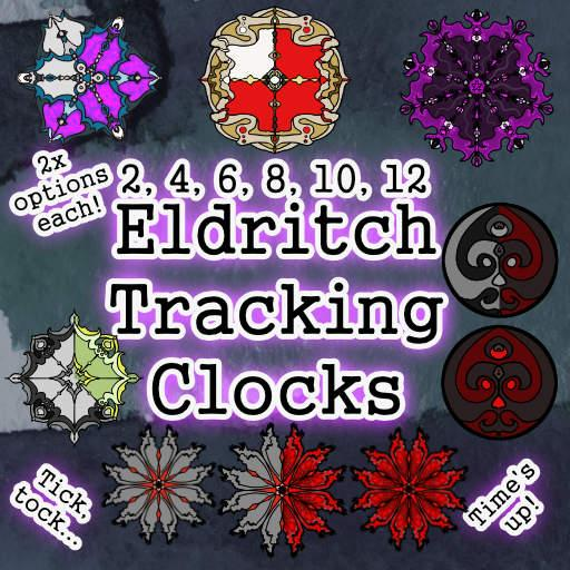 Eldritch Tracking Countdown Clocks - Rollable Table Add On