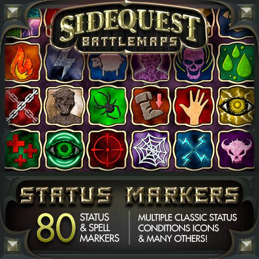 Sidequest Battlemaps: Status Markers