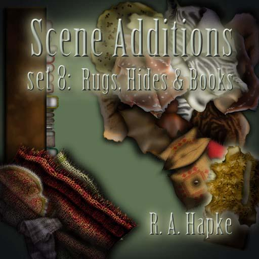 Scene Additions set 8: Rugs, Hides & Books