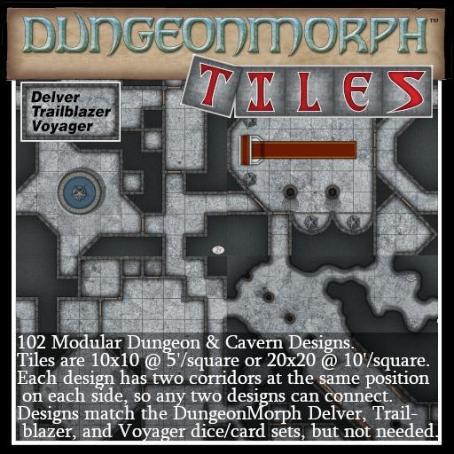 DungeonMorph Tiles: Delver, Trailblazer, & Voyager